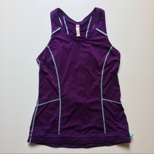 Lucy Ruched Racerback Tank -Sz Small